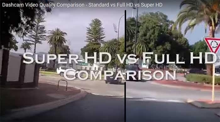 Australian dashcam super HD comparison